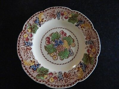 "WOODS BURSLEM ENGLAND HYDE SCALLOPED DINNER PLATE 10"" EX COND 5 available"