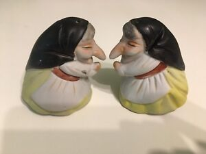 Vintage Ceramic Baba Yaga Salt & Pepper Shakers