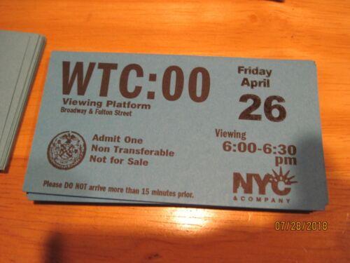"World Trade Center  Twin Towers  9/11 - WTC - ""Viewing Platform""  Bonus 2 free"