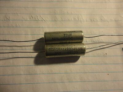 2pcs Sprague .22uf-400v-10 Cqr09a1ke224k3m Pio Capacitor