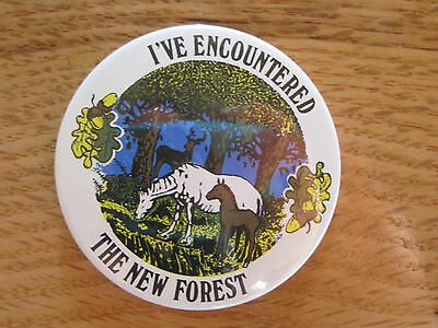 Pin Back Button I've Encountered The New Forest Vintage
