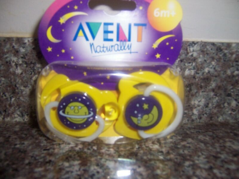 Avent Naturally   latex nipple night time pacifier 6+M