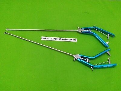 Storz-type Needle Holder Left Curvdright Curvd 5mmx330mm Laparoscopic Surgical