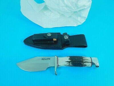 "RANDALL MADE KNIVES, ORLANDO, FL. STAG HANDLED MODEL 19-4 ½"" ""BUSHMASTER"" KNIFE"