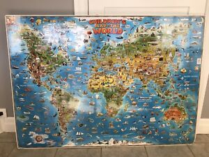 Children's world map. The most fun kid's map ever