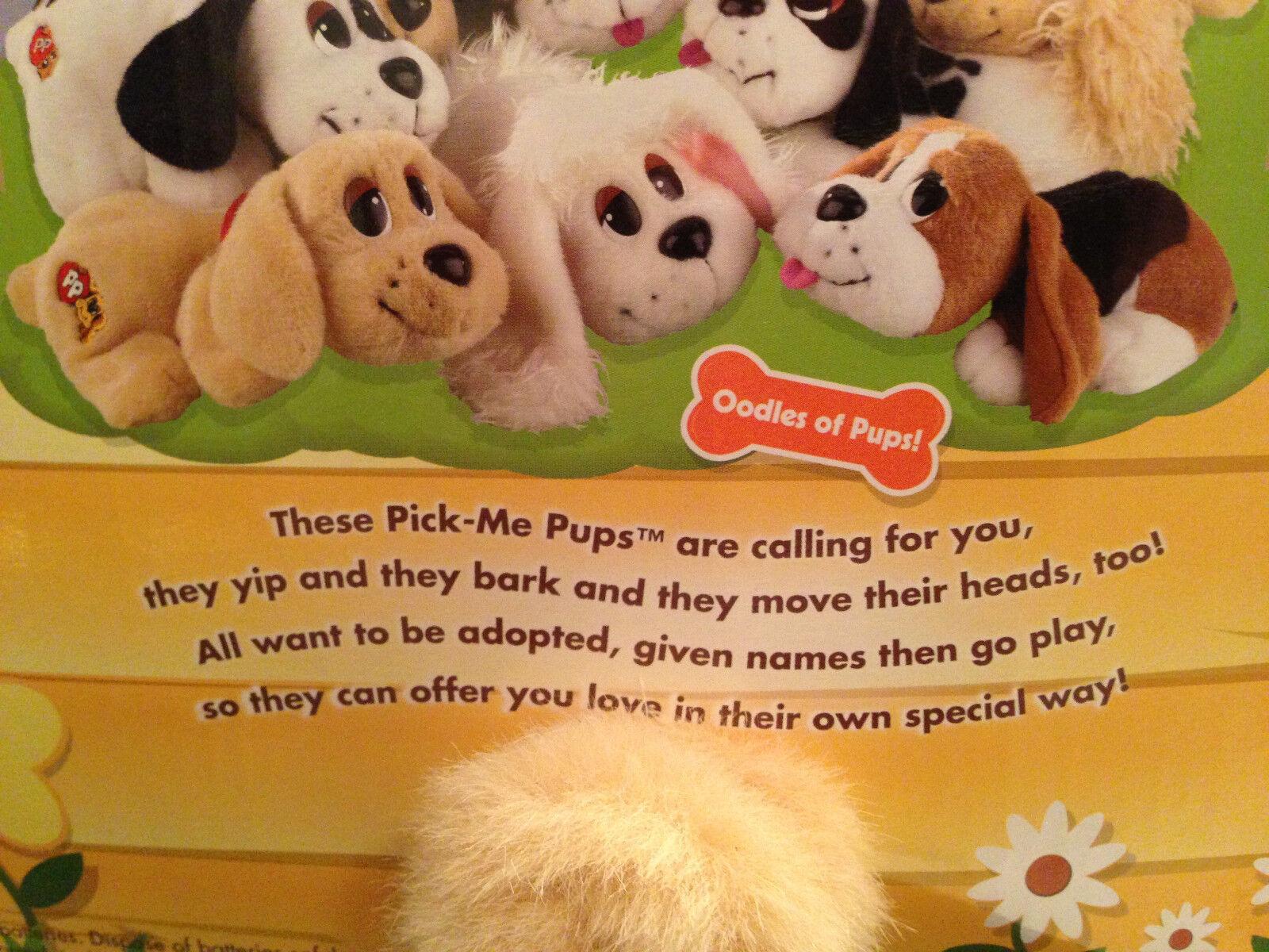Pound Puppies Pick Me Pups CockerSpaniel Toy Plush Animated 2004