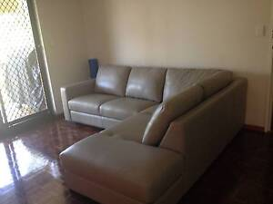 100% Leather Sofa 2.5 Seat Left Hand Chaise in Grey Bridgeman Downs Brisbane North East Preview