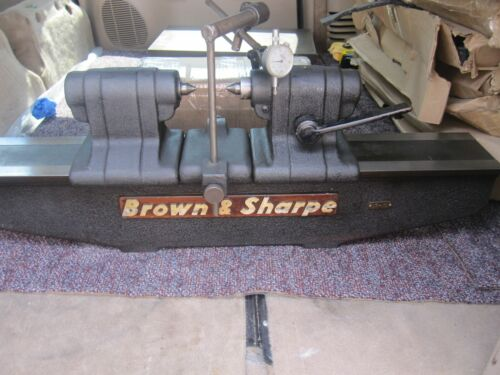 """Brown & Sharpe 17-10 bench center with Mitutoyo indicator 17"""" between centers"""
