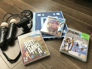 PlayStation move +2 controllers+3 games