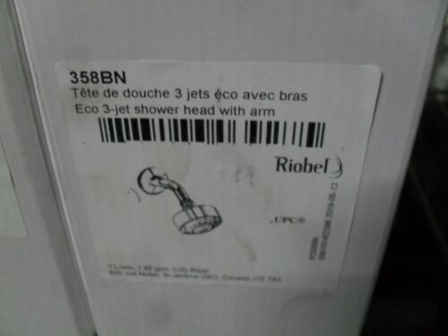 Riobel 358BN Eco 3 Jet shower head with arm Brushed Nickel