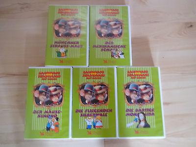 5 VHS Videos: Stadtmaus und Feldmaus auf Reisen. Grüne Serie ! Feld Videos