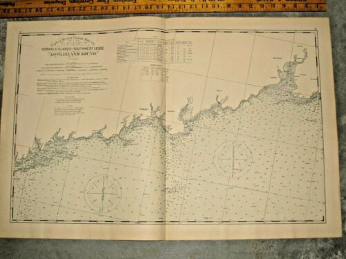 1893 NORWALK ISLAND TO SOUTHWEST LEDGE, LONG ISLAND SOUND COASTAL SURVEY CHART