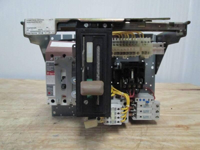 Cutler-Hammer Freedom Unitrol Size 2 50A Breaker MCC Bucket MCCB Motor Control