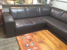 Lounge suite genuine cow leather corner 4seater+chase Exe cond Woodcroft Blacktown Area Preview