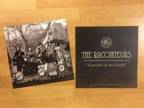 """The Raconteurs Consolers of the Lonely 12"""" Promo Poster Jack White Stripes Rock"""