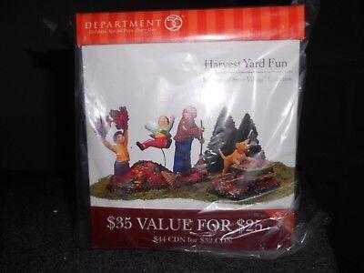 DEPT 56 HALLOWEEN Village HARVEST YARD FUN NIB *Read* (Halloween Village Collectibles)