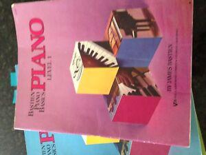 Piano book. Bastien piano basic level 1 to 4 books