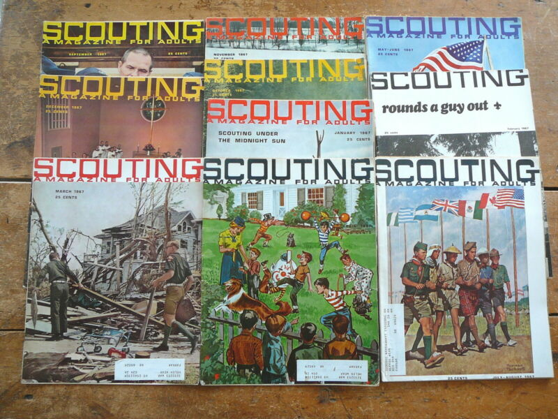 SCOUTING MAGAZINE ADULTS - BOY CUB SCOUTS AMERICA - 1967  COMPLETE SET 10 ISSUES