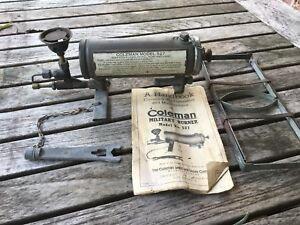 RARE COLEMAN WWII MILITARY MEDICAL BURNER - with manual
