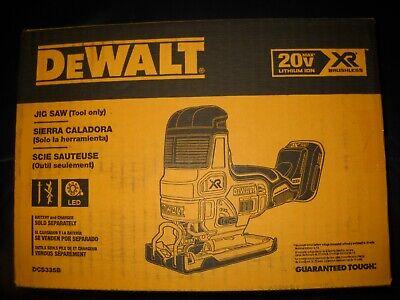 DeWALT DCS335B 20 Volt Cordless Brushless Barrel Grip Jig Saw NEW