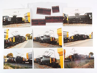 "8 Fotos mit Negativen - Tagebau E-Lok 62 - Helmstedt 1993 ""Xoa08"