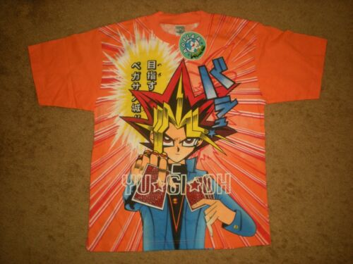 NWT VTG YU-GI-OH ROLLER KIDS ALL OVER PRINT DOUBLE SIDED T SHIRT