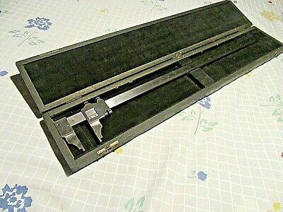 Vintage L.s. Starrett No. 122 25 Vernier Caliper -inside-outside Made In Usa