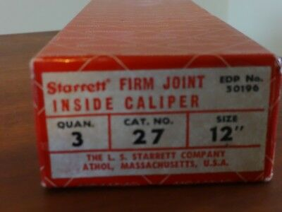 Starrett 12 Inside Caliper 27-12 3 New In Box