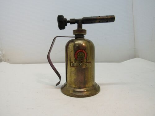 Vintage Small Brass Gasoline Torch,The Lenk MFG. Company, Boston, Mass, Made USA
