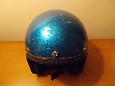 Vintage Blue Metalflake Metal-Flake Racing Helmet Similar2 Grumpy Jenkins NESCO
