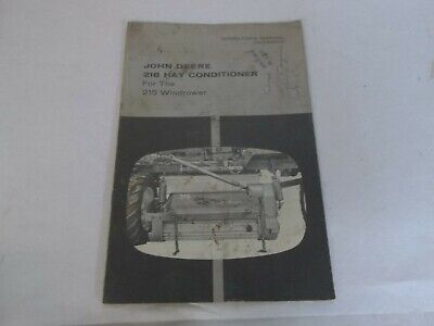 John Deere 218 Hay Conditioner For The 215 Windrower Operators Manual