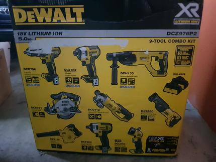 Dewalt 9pc combo kit brand new never used.