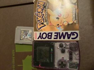 Purple Gameboy Color+Pokemon Yellow and Silver