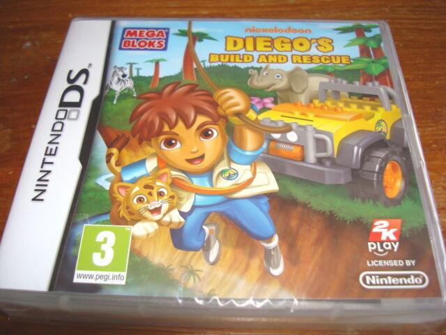 DIEGO'S BUILD & RESCUE ( Mega Bloks ) ** NEW & SEALED ** Nintendo Ds Game