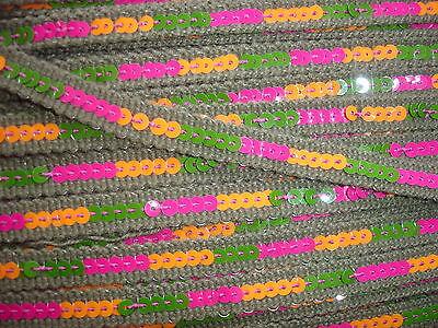 5m Paillettenband 0,50€/m grün, bunt KE33