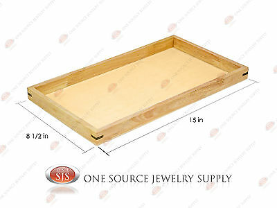 Natural Wood Sample Display Tray Wooden Jewelry Organizer 15 X 8 12 X 1