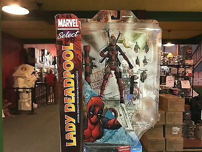 "2017 Diamond Select Marvel Select Lady Deadpool 6"" Action Figure MOC IN HAND"