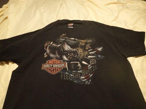Harley Davidson Graphic T-Shirt - Houston, Texas- Size L