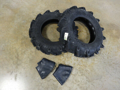 Two New 7-14 Bkt Tr-126 Farm Tractor Lug R-1 Tires Tubes