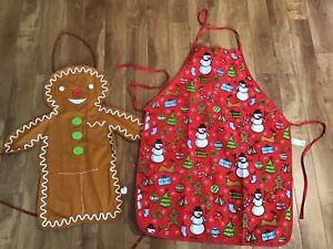 2 Christmas Aprons