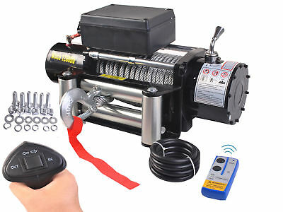 12v Electric Remote Control Cable Puller Winch Hoist Lift 12000lbs Atv Roller