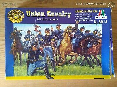 Niños Soldados de Plástico Italieri 1/72è Sindicatos Cavalry Azul Abrigo Grupo