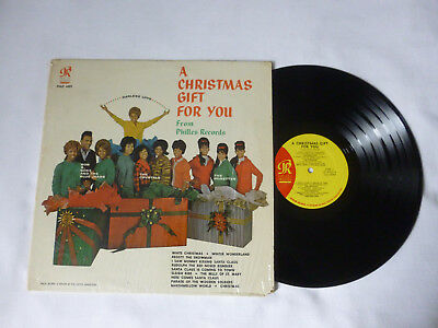 A CHRISTMAS GIFT FROM PHILLES RECORDS ~  1963 US 1ST PRESS VINYL LP ~ NICE AUDIO