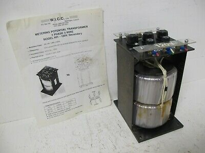 Wicc Metering Potential Transformer Pt601-06 480120v Model 601 480v 600 601-06a