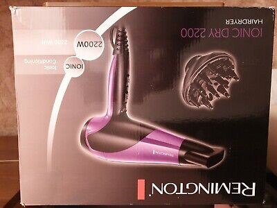REMINGTON Ionic Hair Dryer Professional Conditioning 2200W 3year Guarantee D3190