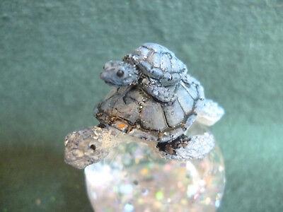 Glitter Globes (Hallmark Gift Bag Two Turtles Snow Globe Changing Color Swirling Glitter)