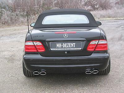 MH-DEZENT 4 Rohr Sportauspuff  V8 Mercedes CLK 430 CLK 55 AMG W208 Coupe Cabrio