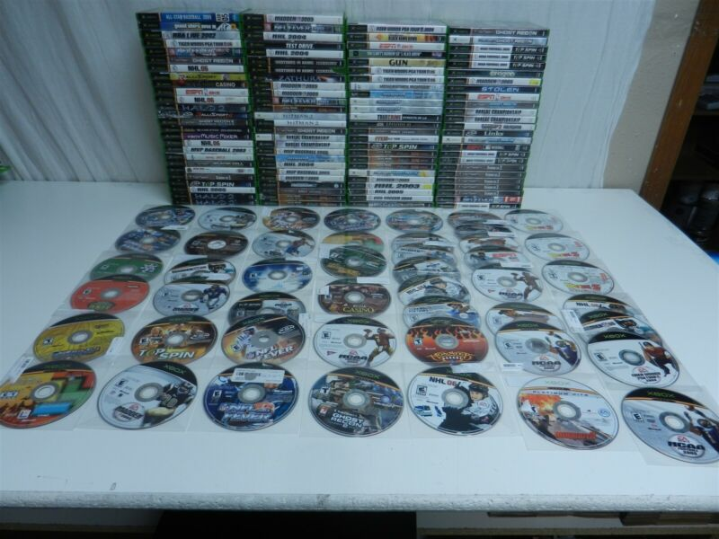Lot of 149 Microsoft Xbox Original Games - Need for Speed, Halo 2, Doom 3