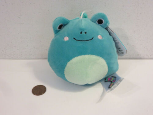 """SQUISHMALLOWS 2021 NWT LUDWIG THE FROG CLIP ON 3.5"""" HTF NEW WITH TAGS"""