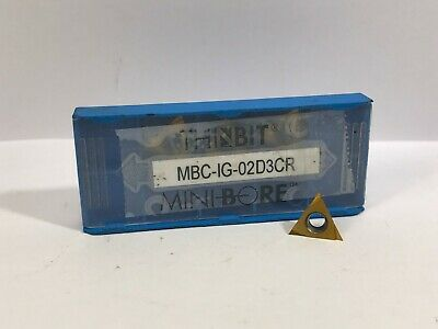 Thinbit Mini Bore Mbc-ig-02d3cr New Carbide Inserts 4pcs